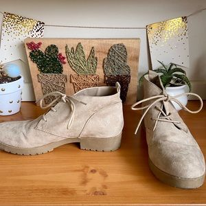 Unionbay Tan Ankle Boots- Barely Worn-9 1/2